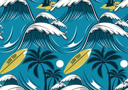 hawaii seamless pattern, fashion background.