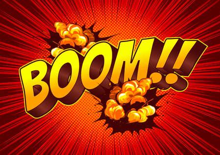 Boom speech bubble Comic background. Ilustração