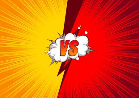 Versus VS, Fight Comic Background,  speech bubbles. Ilustração