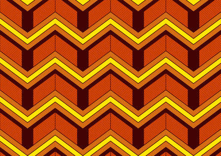 african Zigzag seamless pattern, image art and abstract background.
