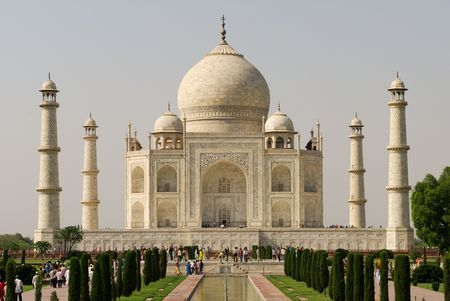 mausoleum: The Taj Mahal is a mausoleum located in Agra, India.