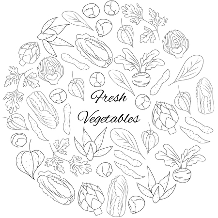 Illustration with fresh vegetables