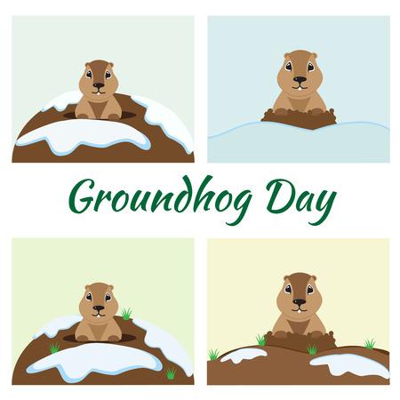 Groundhog Day Card Set
