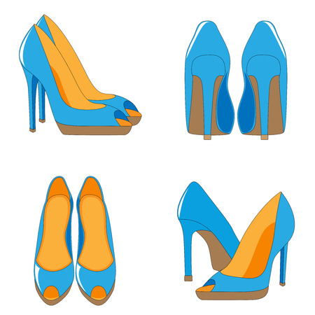 A pair of high-heeled shoes