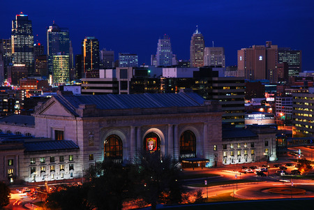 Kansas City Skyline Dusk