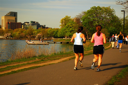 x mass: Jogging Trail in Boston Park