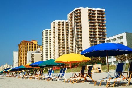 grand strand: Summertime at Myrtle Beach, South Carolina