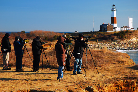 montauk: Bird Watchers at Montauk Point