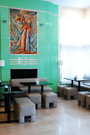 east end: Lobby of Colony Hotel Miami Beach