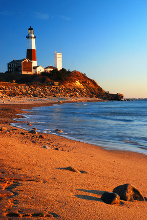 end of a long day: Montauk Point Lighthouse