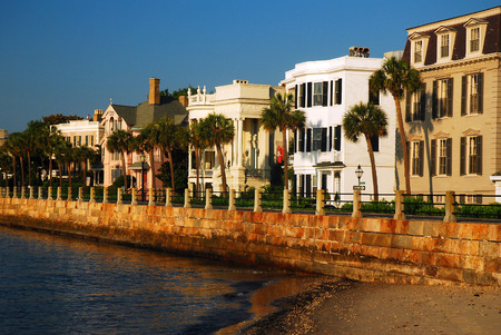 row of houses: Charleston, East Battery