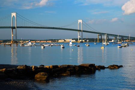 span: Newport Pell Bridge