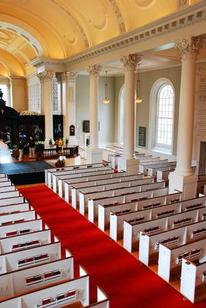 harvard university: Interior of the Memorial Chapel, Harvard University