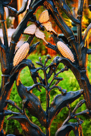 north american butterflies: A Fence with Cornstalk Design Graces the French Quarter in New Orleans