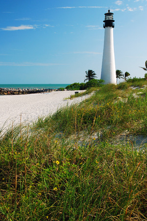 navigational light: The Cape Florida Light in Key Biscayne