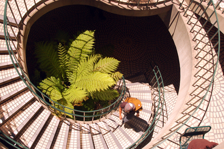 curving: A Curving Staircase in San Franciscos Embarcadero Center Stock Photo