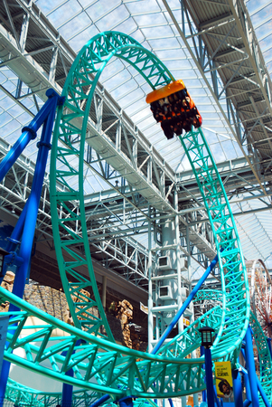 great plains: Looping Rollercoaster at Mall of America, Minnesota Editorial