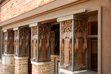 Details of the Columns at the Frank Lloyd Wright Home and Studio, Oak Park, Illinois