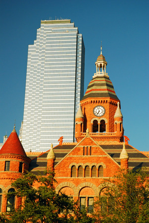 bank of america: Contrasting the Old Red Courthouse and the Modern Bank of America Building, Dallas Editorial