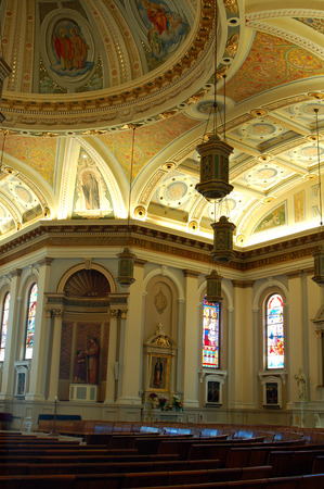 san jose: The Interior of St Jospehs Cathedral in San Jose, Califonria