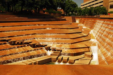 Ft Worth Water Garden Stock Photo