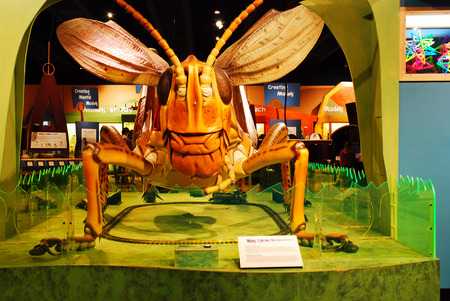 larger than life: A Larger Than Life Grasshopper on Display at the Boston Museum of Science