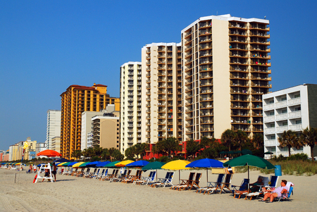 timeshare: Early Morning, before theh Crowds, on Myrtle Beach Editorial