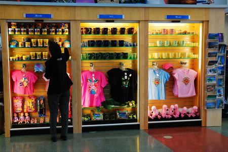 お土産ショップ、マイアミ空港