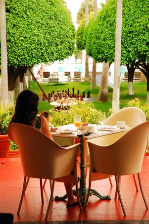 delano: Breakfast at the Delano Hotel, Miami Beach