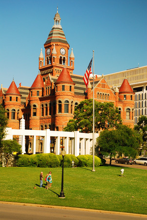 assassinate: Old Red Courthouse at Dealy Plaza, Dallas Texas