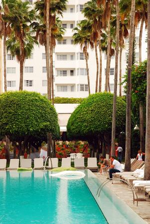 delano: The Swimming pool at the Historic Art Deco Delano Hotel Editorial