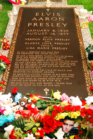 Grave of Elvis Presley, Graceland, Memphis, TN