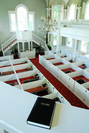 congregational: A View from the Choir Loft at the First Congregational Church in Bennington Vermont