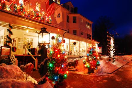 Natale al Red Lion Inn, Stockbridge, Massachusetts, Casa di Illustrator Norman Rockwell Editoriali