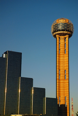 observational: The Reunion Tower, Dallas Texas Editorial