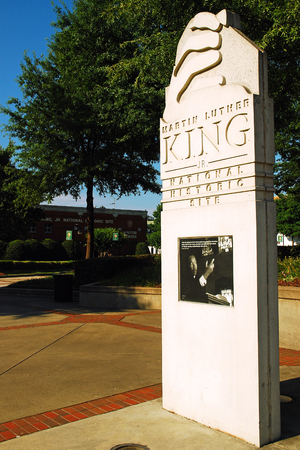historic site: Entrance to the Martin Luther King National Historic Site, Atlanta