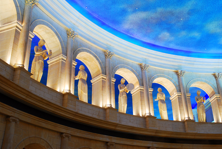 atlantic city: Statues and Roman Architecture inspire the decor of Caesars Palace in Atlantic City Editorial