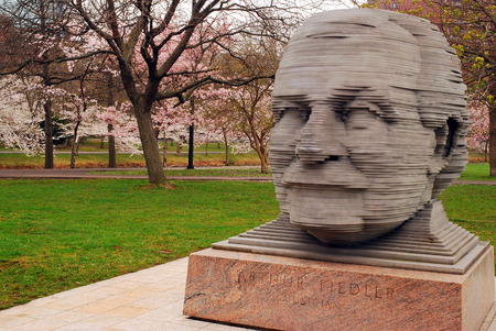 northeastern: Arthur Fiedler, Conductor of the Boston Pops is Honored with a Statue in The Esplanade