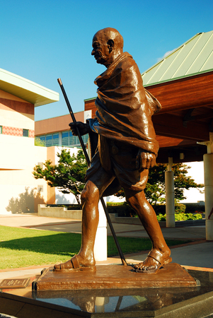 non violence: A Statue of Ghandi outside the Martin Luther King Center for Non Violence