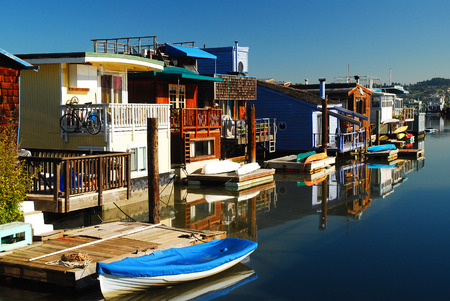 refelction: Houseboat of Sausalito