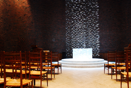 campus tour: Interior of the Kresge Chapel, Massachusetts Institute of Technology Editorial