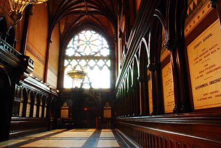 harvard university: Thje interior of Memorial Hall at Harvard University