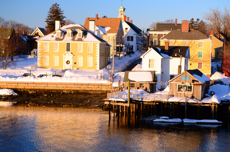 dwell house: Historic Portsmouth New Hampshire in Winter