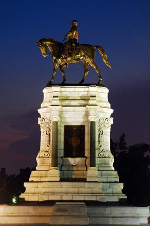 Confederate General Robert E Lee Memorial in Richmond Editorial