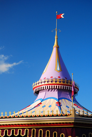 A whimsical canopy top in fantasyLand, Walt Disney World