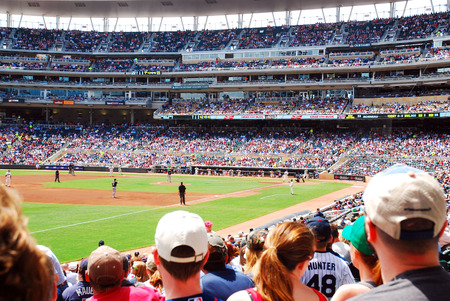 Fans Enjoy a Beautiful Day at Target Field, Home of the Minnesota Twins