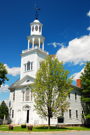 Historic First Congregational Church in Bennington Vermont Stock Photo