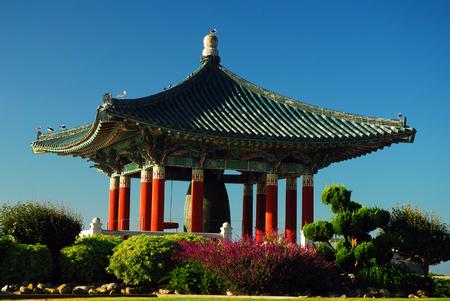 hung: Korean Peace Bell Stock Photo