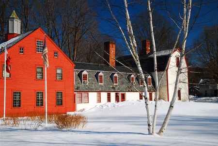 Wintry New England Town
