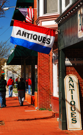 An Antique Store, Open for Business, in the Colonial town of Fredericksburg, Virginia